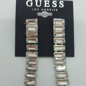 Guess Silver-tone crystal earrings